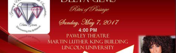 Keynote speaker for The Delta Gems Rites of Passage
